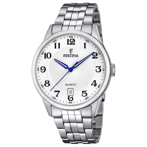 F20425/1 Festina Mens Stainless Steel Round Bracelet Watch